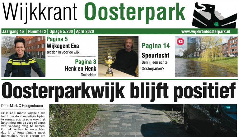 Wijkkrant Oosterpark – 46/2 – april 2020
